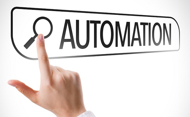 Automation written in search bar on virtual screen